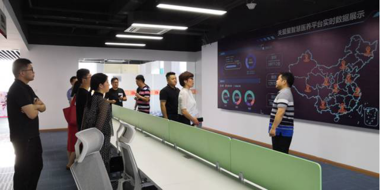 Leaders from Xuyi visited Thinkrace and praised Thinkrace's intelligent medical care products and models