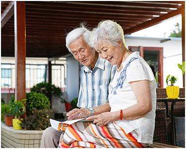 Caring star intelligent pension system provides all aspects of smart pension system services for the elderly